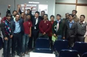 인도 Kalkota에 있는 Indian Statistical Institute에서 Essence 관련 강연 후 교수 및 학생들과 함께